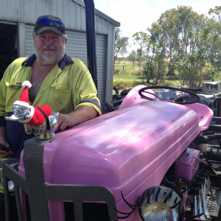 Little Pinky the Tractor – Breast Cancer Awareness