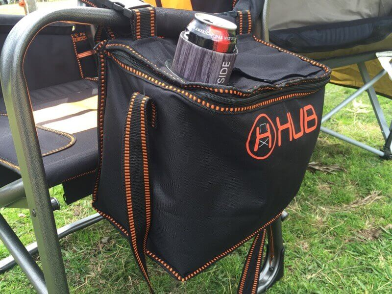 hub chair - view of the cooler bag