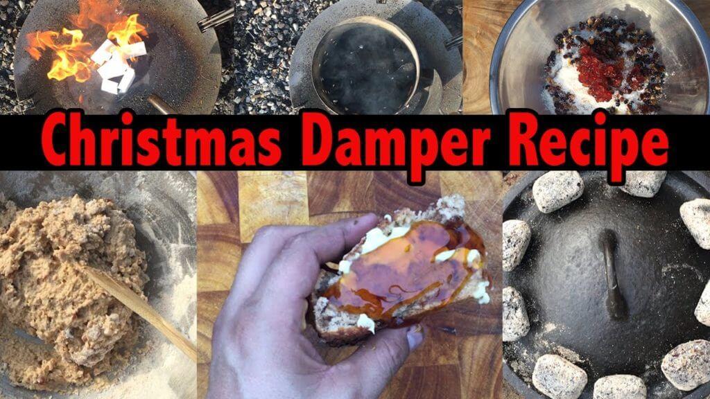 Camp Oven Christmas Damper Recipe
