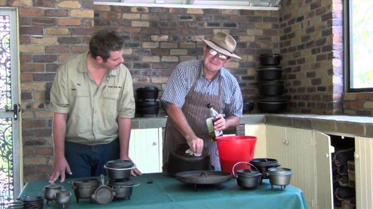 Nick's Tips – Seasoning a Camp Oven with Derek Bullock.